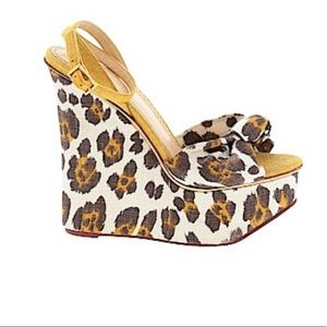 Charlotte Olympia animal print wedges